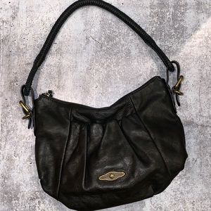 Elliot Lucca Leather black hobo bag cow leather